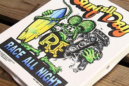 ラットフィンク ポスター キャンバスパネル Rat Fink SURF ALL DAY の詳細