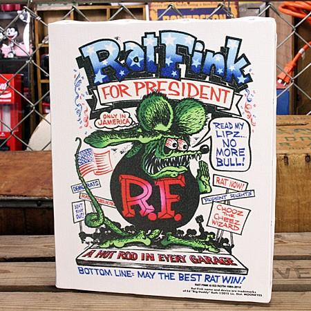 ラットフィンク ポスター キャンバスパネル Rat Fink PRESIDENT サイズM