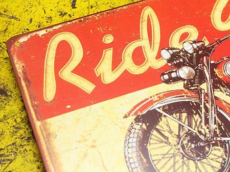 アメリカンインテリアプレート アメリカンバイク Ride Free! サイズSのアップ
