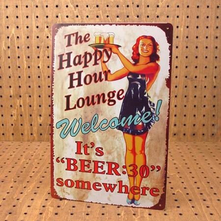 アメリカンインテリアプレート The Happy Hour Lounge