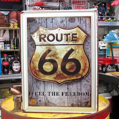アメリカンインテリアプレート ルート66(ROUTE66) FEEL THE FREEDOM B サイズM