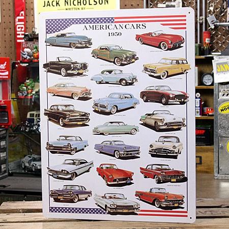 アメリカンインテリアプレート AMERICAN CARS 1950 サイズM