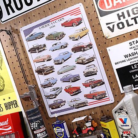 アメリカンインテリアプレート AMERICAN CARS 1950 サイズMのアップ