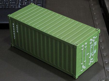 海上コンテナ型ミニマルチ収納ボックス アーミーグリーン1