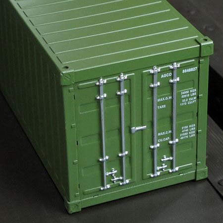 海上コンテナ型ミニマルチ収納ボックス アーミーグリーン2