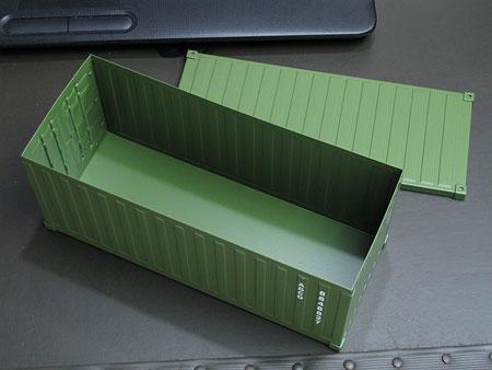 海上コンテナ型ミニマルチ収納ボックス アーミーグリーン3