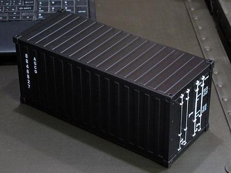海上コンテナ型ミニマルチ収納ボックス マットブラック1