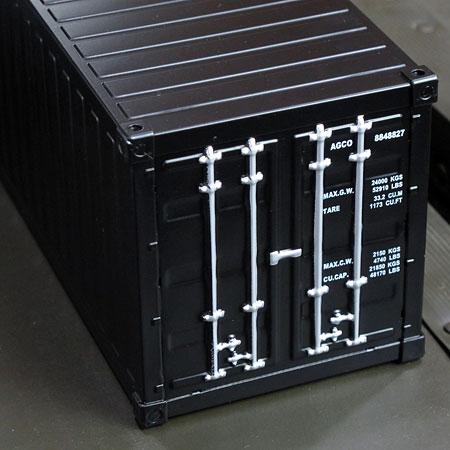 海上コンテナ型ミニマルチ収納ボックス マットブラック2
