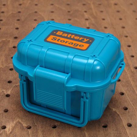 ハンドル付き小物入れ BATTERY STORAGE ブルー1