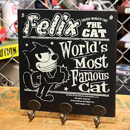 フィリックス・ザ・キャット フックボード ハンガー 壁掛け 木製 FELIX THE CAT GOOD
