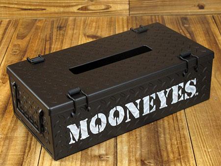 ムーンアイズ ティッシュケース MOONEYES チェッカープレート ブラック1