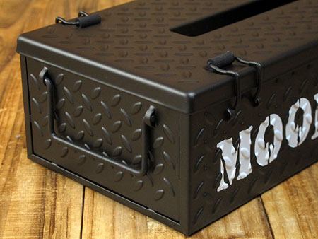 ムーンアイズ ティッシュケース MOONEYES チェッカープレート ブラック2