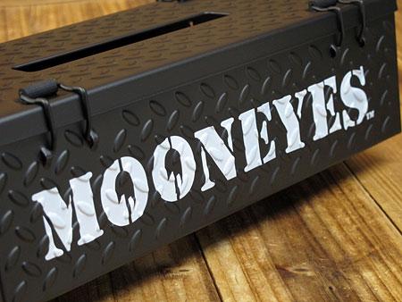 ムーンアイズ ティッシュケース MOONEYES チェッカープレート ブラック3