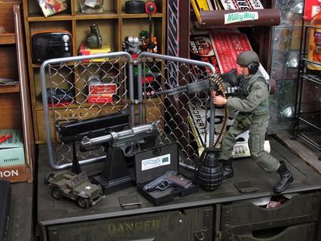 ミニアメリカンスチールフェンスセットの使用例2
