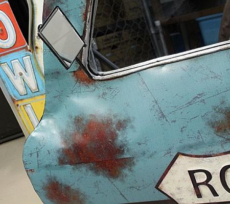 ドア型ウォールミラー壁掛け鏡アンティーク調ルート66ROUTE66[車/アメリカ]のドアミラー