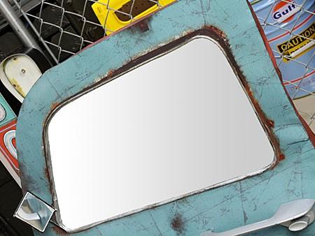 ドア型ウォールミラー壁掛け鏡アンティーク調ルート66ROUTE66[車/アメリカ]の鏡