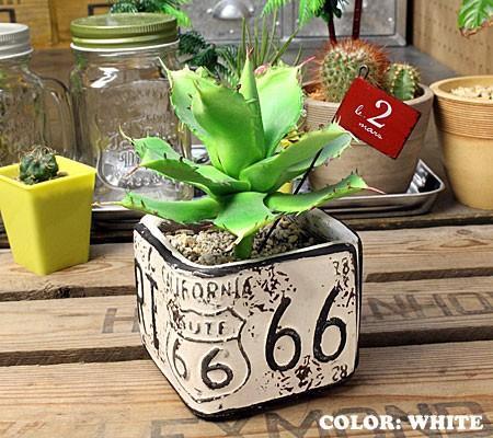 プランター植木鉢アメリカンアンティーク調ルート66ROUTE66ミニスクエアの使用例