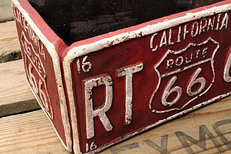プランター 植木鉢 アメリカン アンティーク調 ルート66 ROUTE66 レクト レッドの詳細
