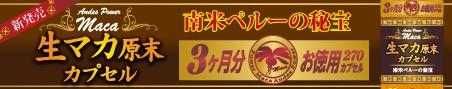 生マカ原末カプセル徳用3カ月分270カプセル