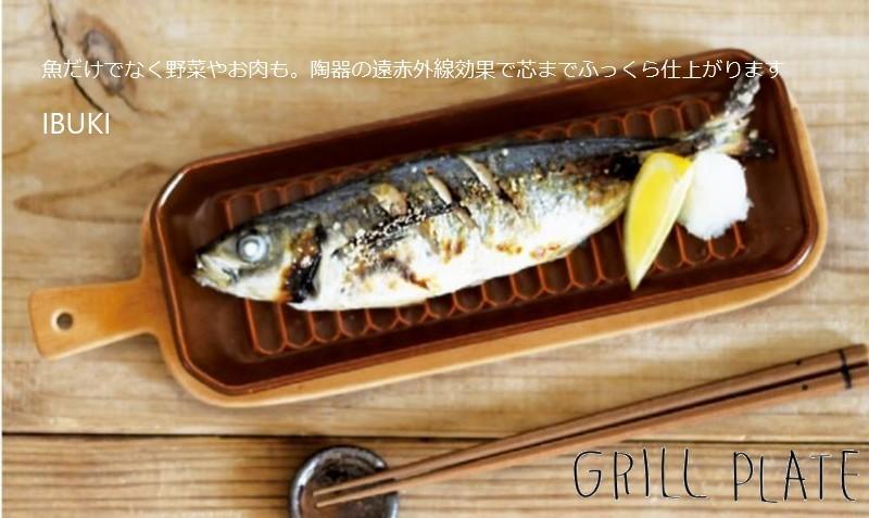 グリルプレート 耐熱 遠赤外線 直火 オーブン グリル料理 焼き魚 お手入れ簡単 ブラック ブラウン TOOLSグリルプレートM