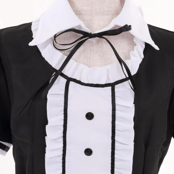 メイド服 コスプレ 衣装 セクシー ウェイトレス  かわいい 仮装 4点セット pleasant-japan 11