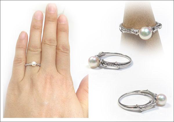 あこや本真珠:指輪:10金:ピンキーリング:パール