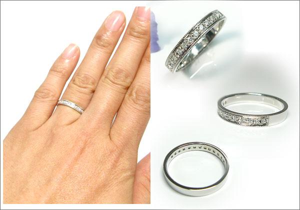 10金:ペアリング:結婚指輪:マリッジリング:指輪:ダイヤモンド