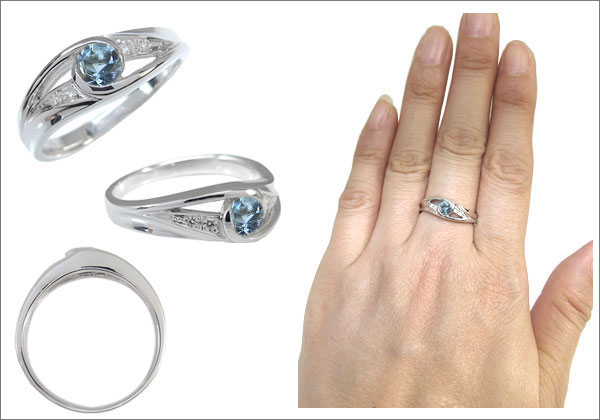 アクアマリン 婚約指輪 エンゲージリング
