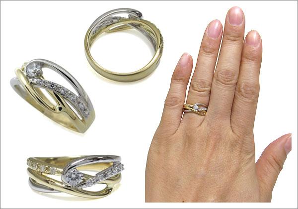 コンビ,リング,婚約指輪