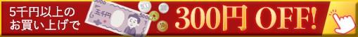 【テスラYAHOO!ショッピング店】お客様大感謝300円OFFクーポン