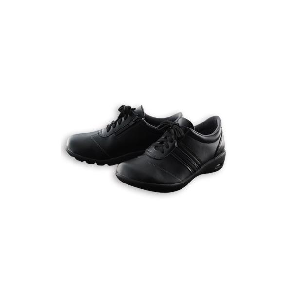 ニーサポートシューズ コンフォートシューズ おしゃれ レディース スニーカー 靴 黒 ブラック サポート 膝に優しい ウォーキングシューズ