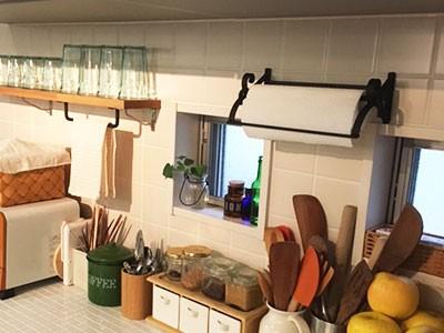 シンプルなアイアンキッチンペーパーホルダーのレビュー画像