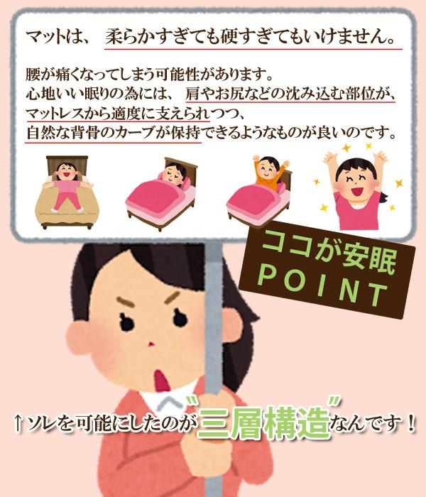 勝野式 医学博士の三層構造マット【マットレス】