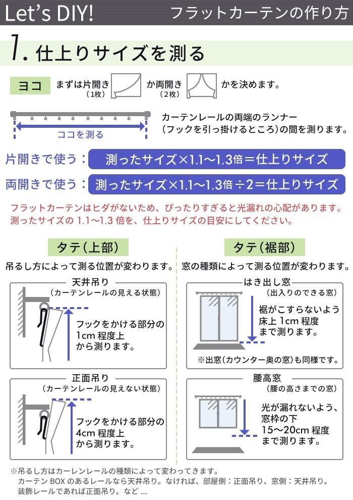 フラットカーテンの作り方1