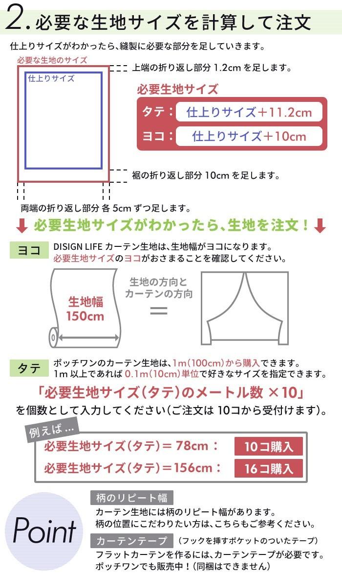 フラットカーテンの作り方2