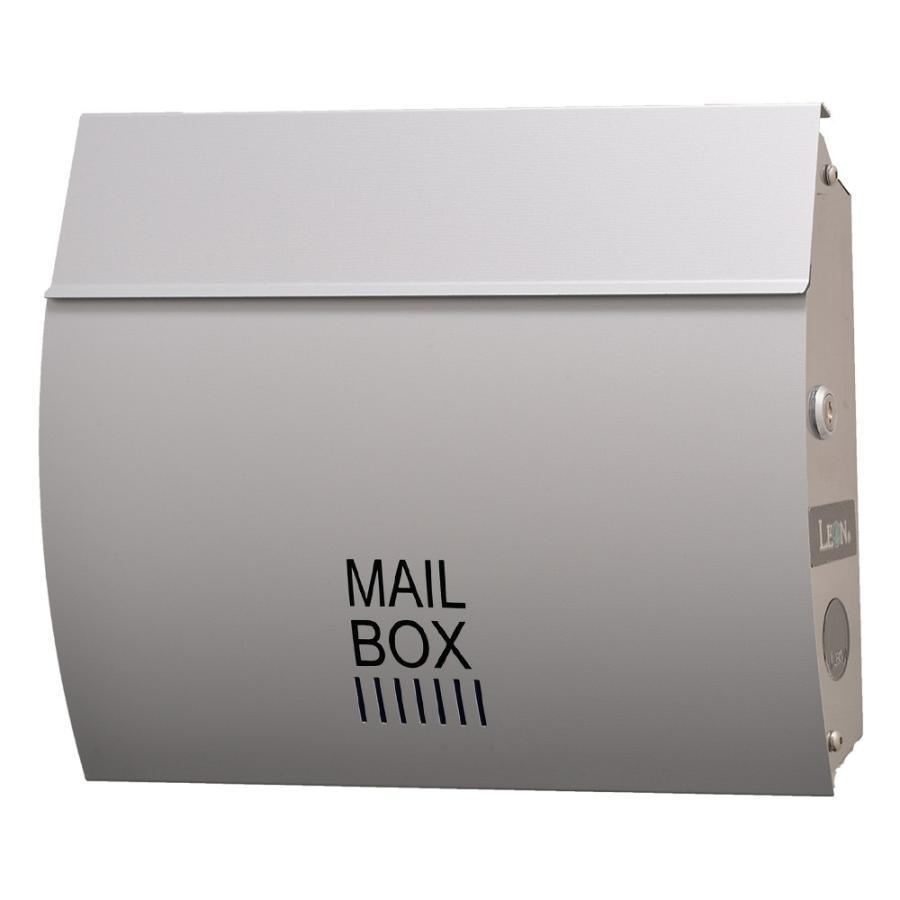 ポスト おしゃれ 壁掛け 郵便ポスト 防水 屋外用 鍵付き MB4801木目調 MAILBOX表記有|post-sign-leon|13
