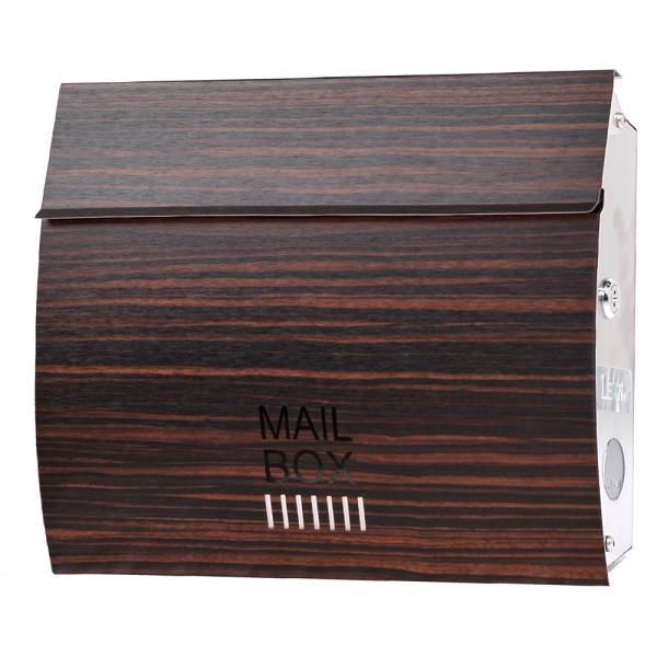 郵便ポスト おしゃれ 壁掛け 木目調 MB4801 MAILBOX表記有 鍵付き post-sign-leon 14