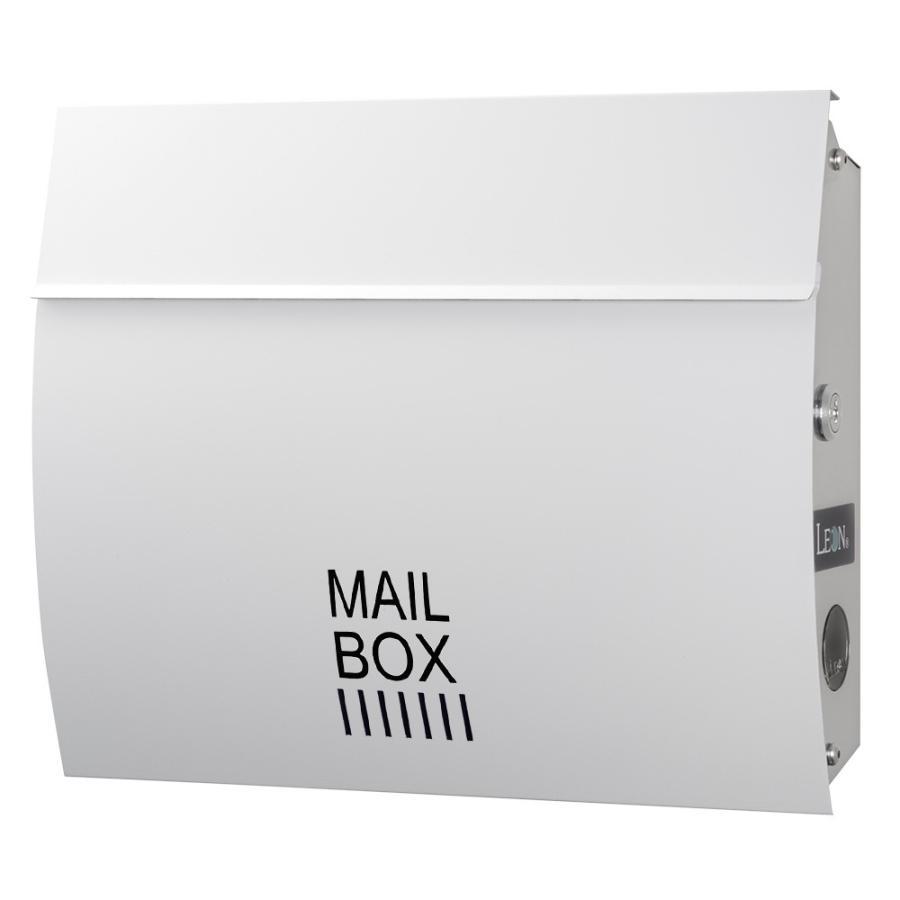 ポスト おしゃれ 壁掛け 郵便ポスト 防水 屋外用 鍵付き MB4801木目調 MAILBOX表記有|post-sign-leon|16