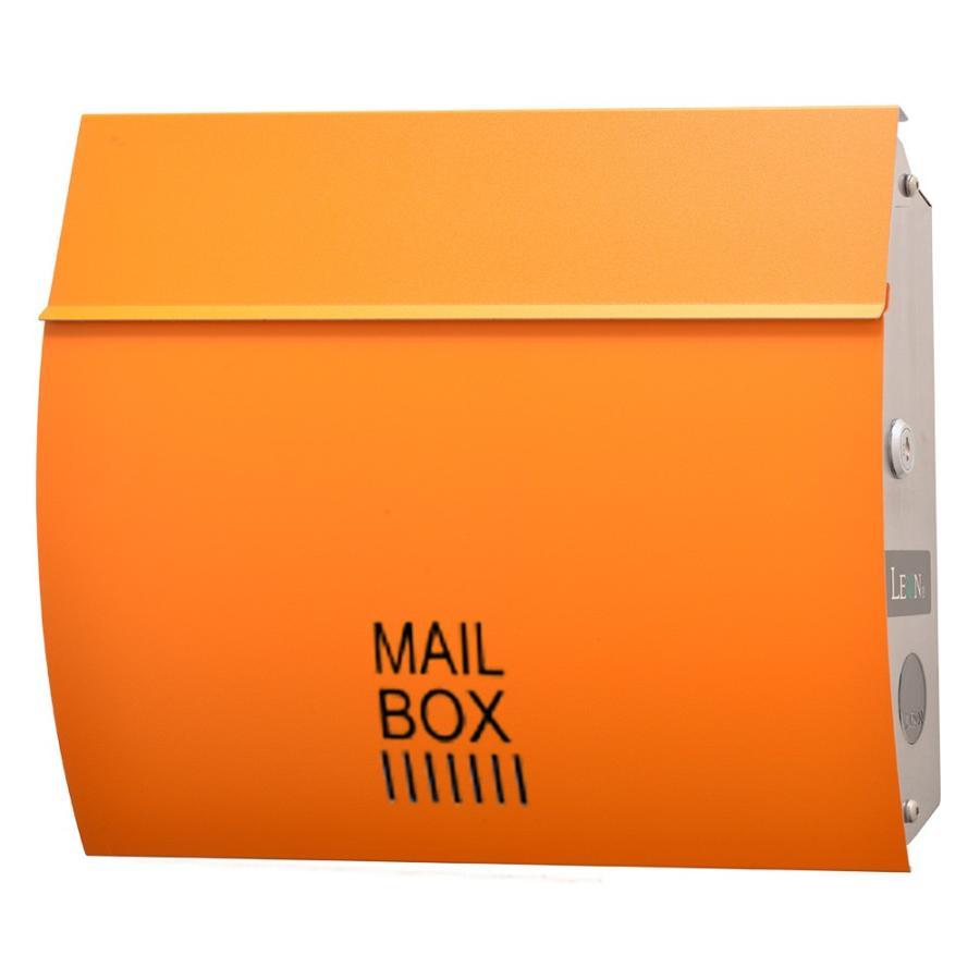 ポスト おしゃれ 壁掛け 郵便ポスト 防水 屋外用 鍵付き MB4801木目調 MAILBOX表記有|post-sign-leon|19