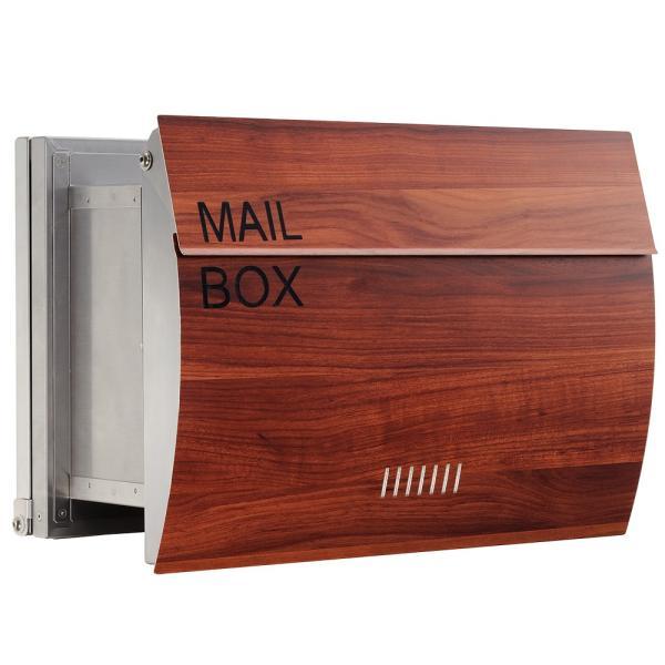 郵便ポスト 埋め込み  木目調 戸建て 大型 MB0310 MAILBOX表記有|post-sign-leon|13