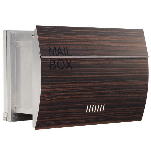 郵便ポスト 埋め込み  木目調 戸建て 大型 MB0310 MAILBOX表記有|post-sign-leon|14