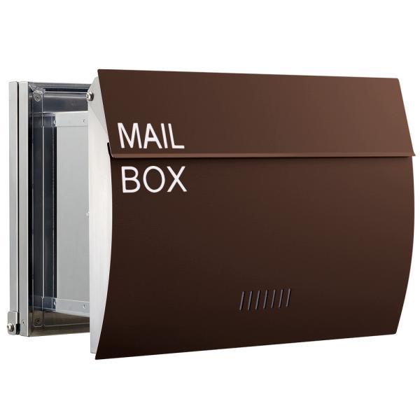 郵便ポスト 埋め込み  木目調 戸建て 大型 MB0310 MAILBOX表記有|post-sign-leon|18