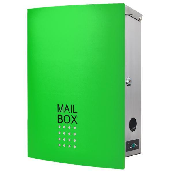ポスト おしゃれ 壁掛け 郵便ポスト 鍵付き MB4504木目調 MAILBOX表記有|post-sign-leon|23
