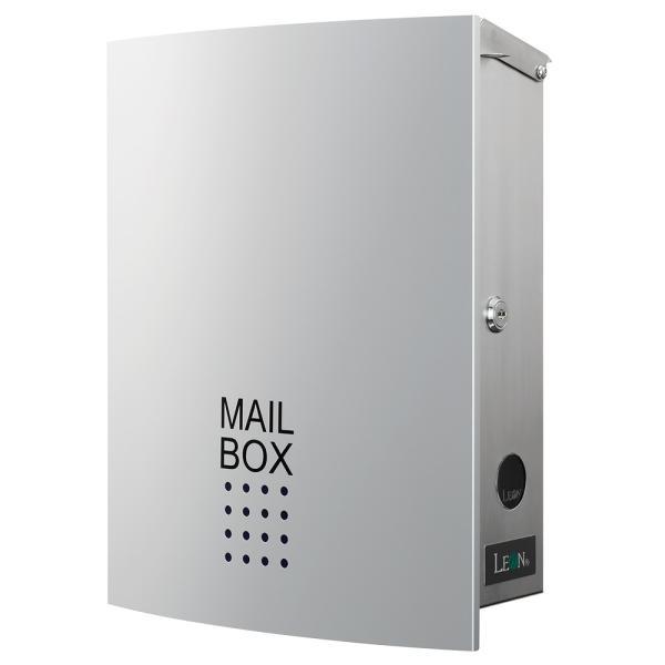 ポスト おしゃれ 壁掛け 郵便ポスト 鍵付き MB4504木目調 MAILBOX表記有|post-sign-leon|13