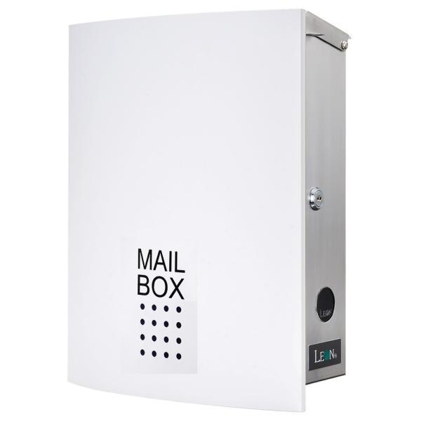 ポスト おしゃれ 壁掛け 郵便ポスト 鍵付き MB4504木目調 MAILBOX表記有|post-sign-leon|17