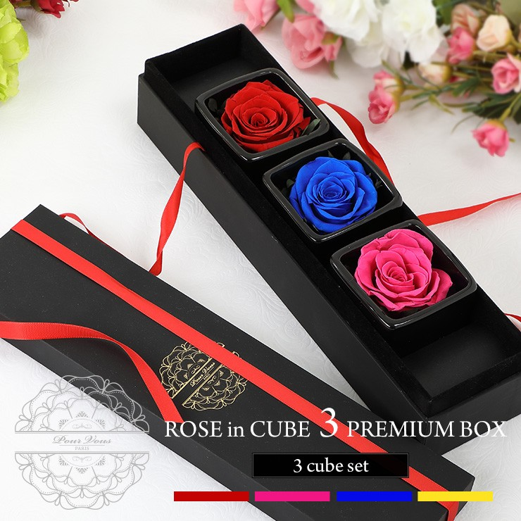 ROSE in CUBE 3 PREMIUM BOX