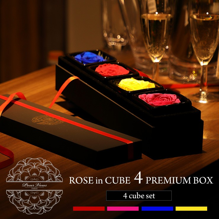 ROSE in CUBE 4 PREMIUM BOX