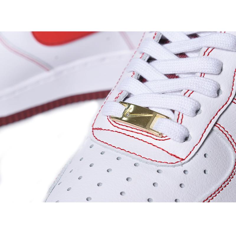 "NIKE AIR FORCE 1 '07 \""FIRST USE\"" TEAM RED ナイキ エアフォース スニーカー ( 白 ホワイト 赤 レッド メンズ DA8478-101 )超美品"