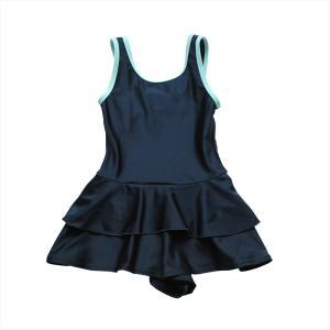 スクール水着 女の子 セパレート ワンピース 練習用 学校用 水着 キッズ 子供 日焼け防止 UVカット スカート 名札 スイムウェア ジュニア|premium-interior|22