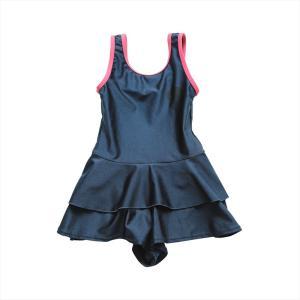 スクール水着 女の子 セパレート ワンピース 練習用 学校用 水着 キッズ 子供 日焼け防止 UVカット スカート 名札 スイムウェア ジュニア|premium-interior|24